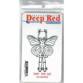 Deep Red Stamps Fairy Time Out Rubber Cling Stamp - 2.1 x 3