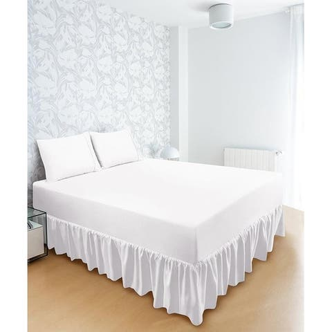 Porch & Den Ruffled Bed Skirt/ Dust Ruffles Skirts with 16 Inches Drop
