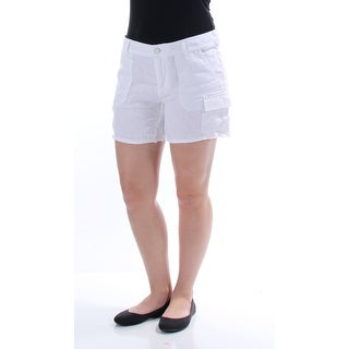 TOMMY HILFIGER $59 Womens New 1483 White Cargo Casual Short 6 B+B