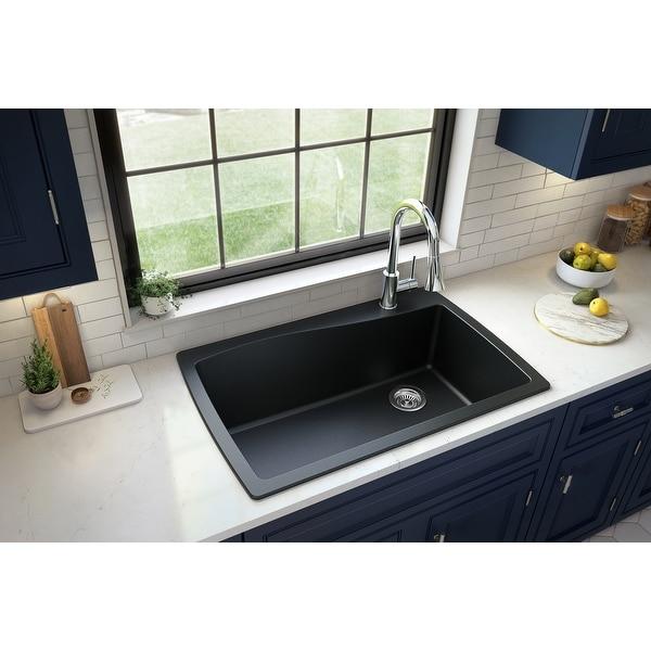 Karran Drop-In Quartz Single Bowl Kitchen Sink