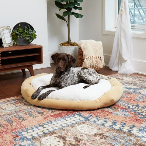 Happy Hounds Moxy Beige Donut Dog Bed