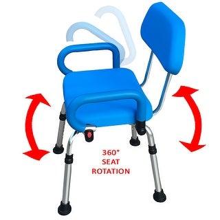 Healthsmart White Wall Mount Fold Away Bath Chair Shower