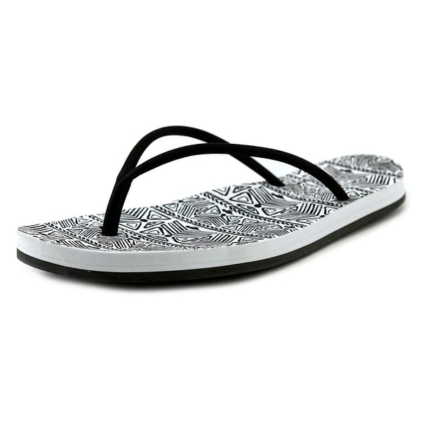 Rocket Dog Palm Beach Women Open Toe Synthetic Black Flip Flop Sandal