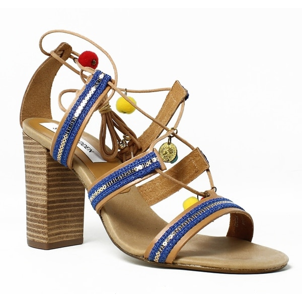 268a6604bce Shop Steve Madden Womens Caela-257 NaturalMulti Sandals Size 9 - On ...