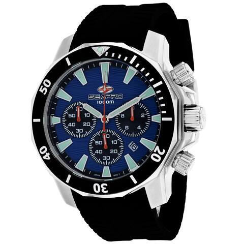 Seapro Men's Scuba Dragon Diver Limited Edition 1000 Meters Blue Dial Watch - SP8344R