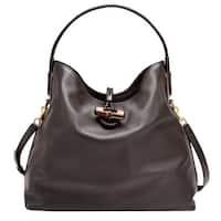 2e1bdd81b Gucci Bamboo Brown Leather Soft Deer Large Tote Bag Shoulder Strap 338982  2164