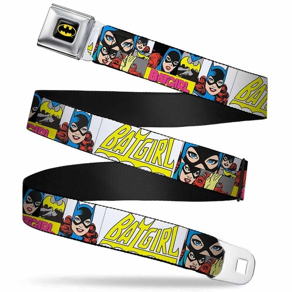 Batman Full Color Black Yellow Batgirl Panels Yellow Pink Webbing Seatbelt Seatbelt Belt