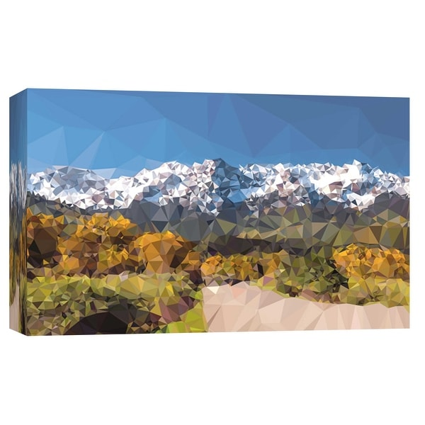 """PTM Images 9-102197 PTM Canvas Collection 8"""" x 10"""" - """"Faceted Mountain Road"""" Giclee Forests and Mountains Art Print on Canvas"""