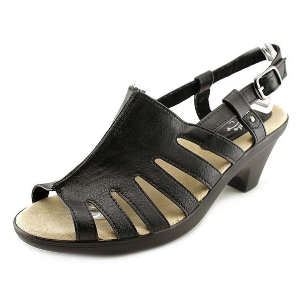 Easy Street Kacia Women  Open-Toe Synthetic Black Slingback Sandal
