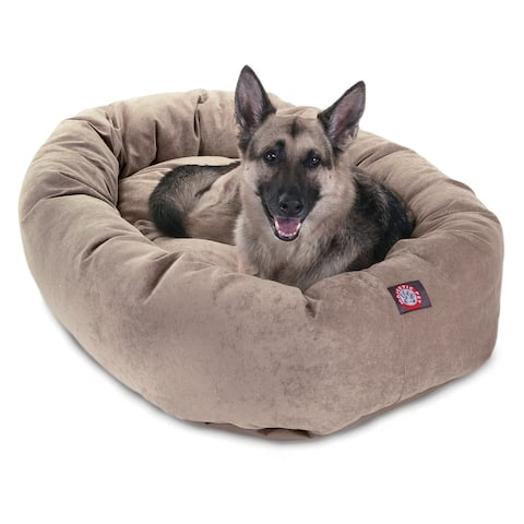 Majestic Pet Villa Collection Micro-velvet Bagel-style Large/ Extra Large Dog Bed with Removable Washable Cover
