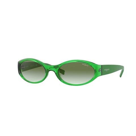 Vogue VO5315S 28028E 53 Transparent Green Woman Oval Sunglasses