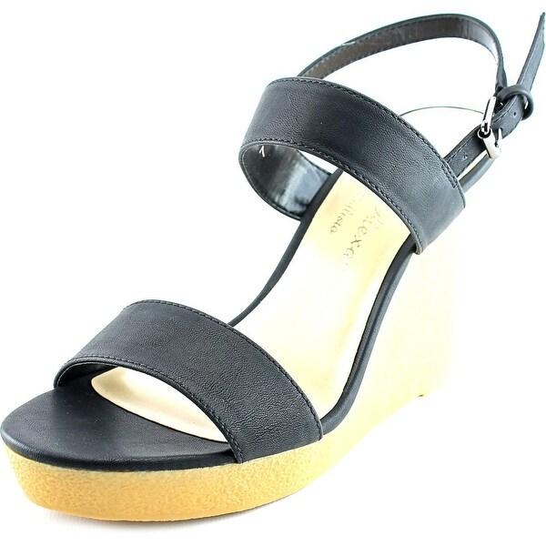 Athena Alexander Beryl Women Open Toe Synthetic Black Wedge Sandal