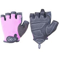 GoFit Women's ProTrainer Pearl-Tac Grip Lifting Gloves - Pink/Gray
