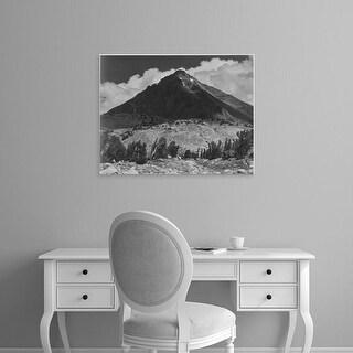 Easy Art Prints Ansel Adams's 'Pinchot Pass, Mt. Wynne, Kings River Canyon' Premium Canvas Art