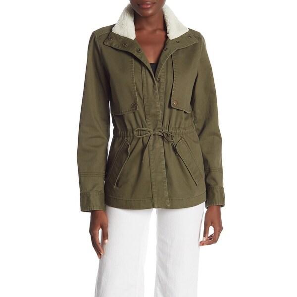 Susina Women's Small Faux Shearling Utility Jacket