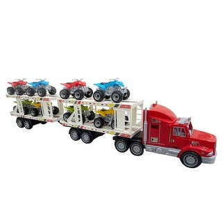 Envo Toys Mega Toy Truck Play Set With Trailer Large XL Size Red