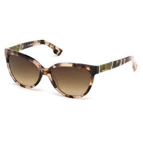 Diesel Eyewear DL0102 Colorful Havana Frame Brown Gradient Lens Sunglasses