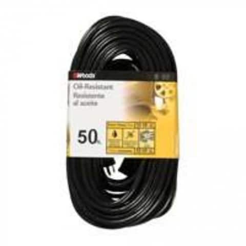 Woods 2457 Outdoor Extension Cord 12/3 Sjtow, 15 Amp, 50Ft, UL Listed