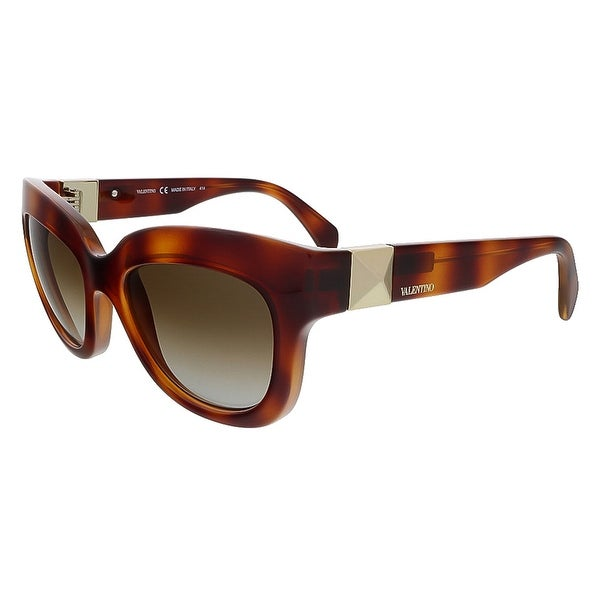 Valentino V693S 725 Blond Havana Cat Eye Valentino Sunglasses - 53-20-135