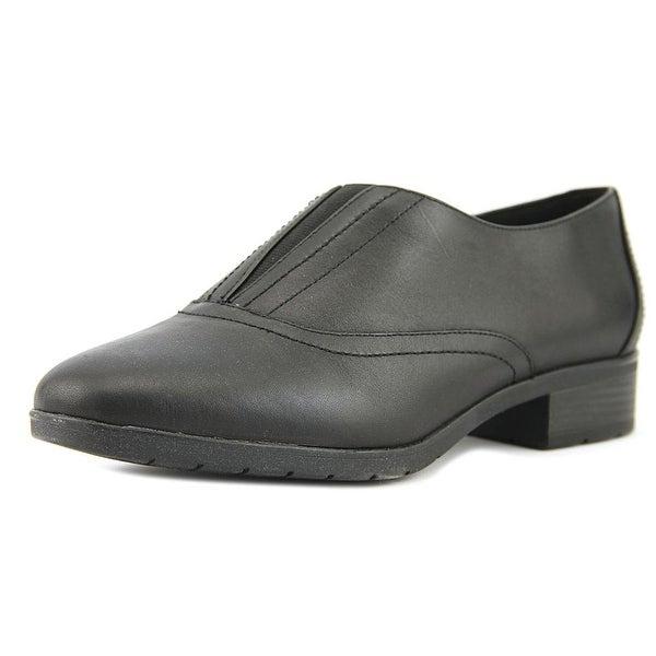 Easy Spirit Neota Women W Round Toe Synthetic Black Loafer