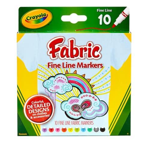 Crayola crayola fine line fabric markers 588626