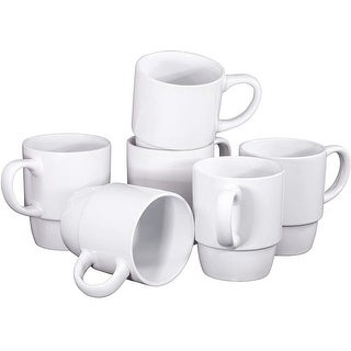 Link to Ceramic Stacking Coffee Mug Tea Cup Dishwasher Safe Set of 6 - Large 18 Ounce Similar Items in Dinnerware