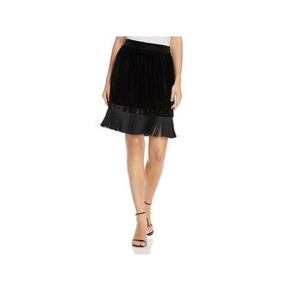 T Tahari Womens Isra Mini Skirt Party Velvet