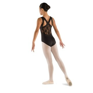 Danshuz Womens Black Lace Back Cross Straps Tactel Microfiber Leotard P-XL (5 options available)
