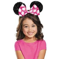 Disguise Pink Minnie Mouse Sequin Child Ears