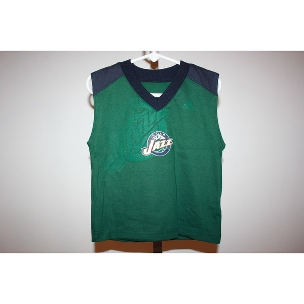 1b0b5adb68e Shop Mended Utah Jazz Toddler 3T Nice Adidas Sleeveless Shirt - On Sale - Free  Shipping On Orders Over $45 - Overstock - 23074689