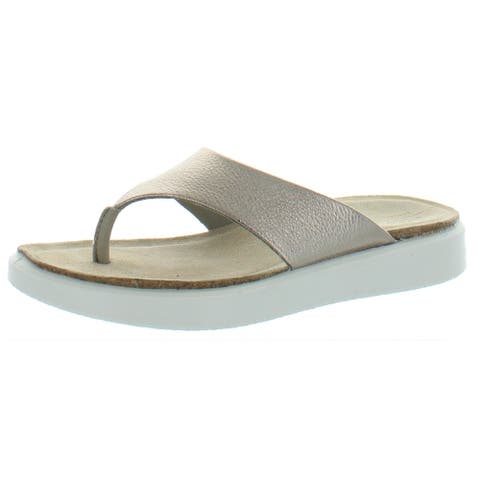 ECCO Womens Corksphere Thong Sandals Leather Slip On