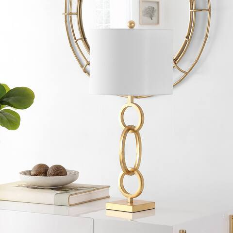 "Safavieh Lighting 32-inch Alaia Iron Table Lamp - 13"" x 13"" x 32"""