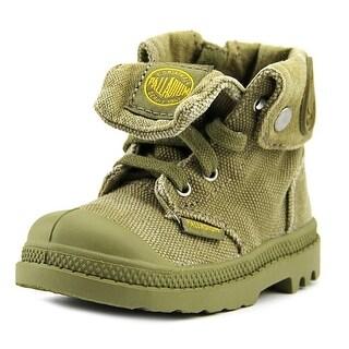 Palladium Baggy Zipper II Infant Round Toe Canvas Green Boot