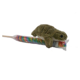 "Wishpets Unisex-Child Sea Turtle on Candy Pop Plush Toy 4"" Green"