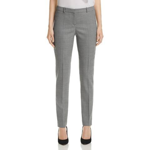 BOSS Hugo Boss Womens Tilunana Trouser Pants Wool Blend Printed
