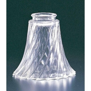 "Volume Lighting GS-11 5"" Height Clear Swirl Glass Bell Ceiling Fan Light Kit Sha"