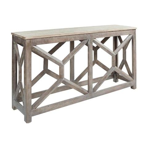 Lanzburg Antique Gray Modern Farmhouse Console Sofa Table