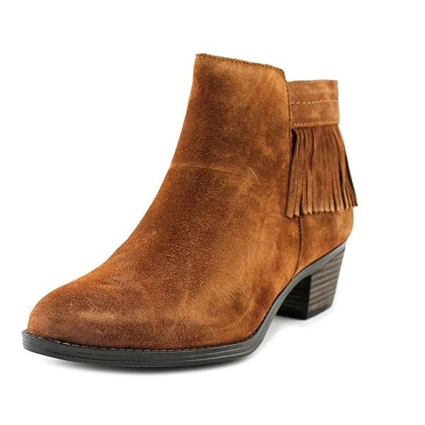Naturalizer Zeline Women W Round Toe Suede Brown Ankle Boot