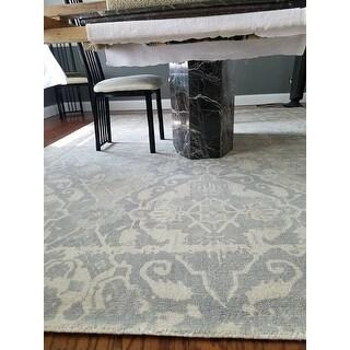Safavieh Handmade Restoration Vintage Light Grey / Ivory Wool Distressed Rug - 8' X 10'
