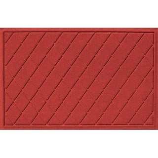 20377650023 Water Guard Argyle Mat in Solid Red - 2 ft. x 3 ft.