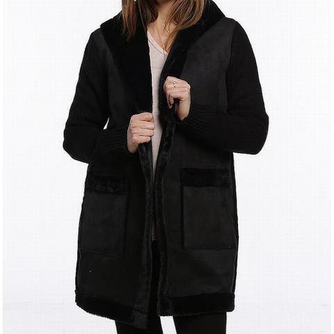 Catherine Malandrino Black Womens Size Medium M Cardigan Sweater