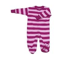 New Jammies Baby Girls Pink Mulberry Stripe Organic Cotton Footie Romper