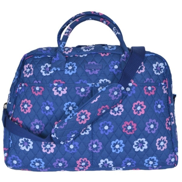 39e1aa01dc28 Vera Bradley ELLIE FLOWERS Floral Cotton Weekender Duffle Travel Bag Purse