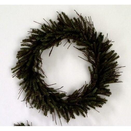"20"" Vienna Twig Wreath 240 Tips"