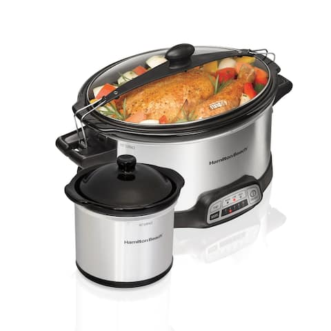 Hamilton Beach Stay or Go 6 Qt Programmable Slow Cooker with Dipper