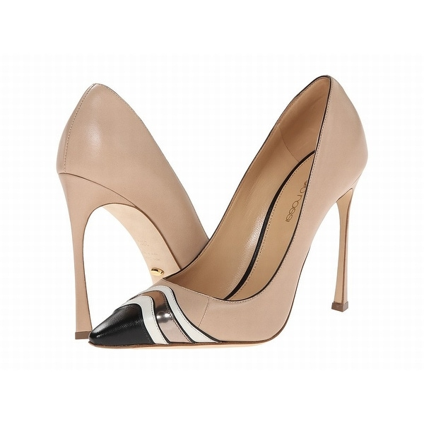 Sergio Rossi NEW Beige Shoes Size 10M Stilettos Leather Heels