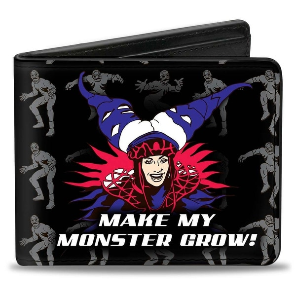 Rita Repulsa Smiling Make My Monster Grow! Putty Patrol Bi Fold Wallet - One Size Fits most