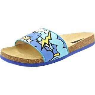 Marc Jacobs Lame' Kid Women Open Toe Synthetic Flip Flop Sandal
