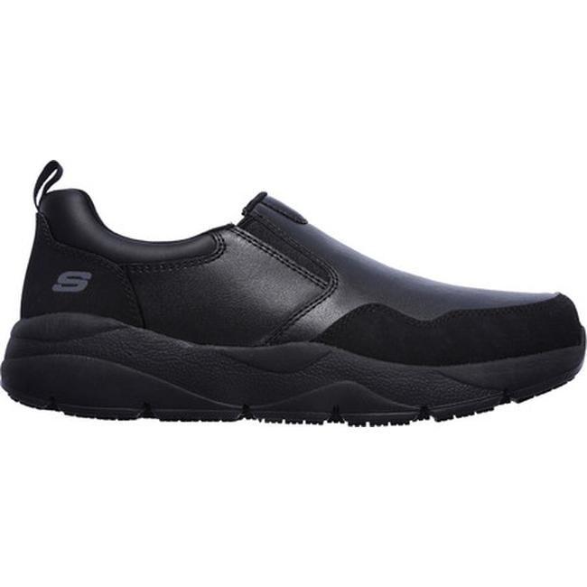 Skechers Men's Work Resterly Slip Resistant Slip On Black