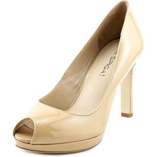 Via Spiga Brandy Women Peep-Toe Patent Leather Nude Heels